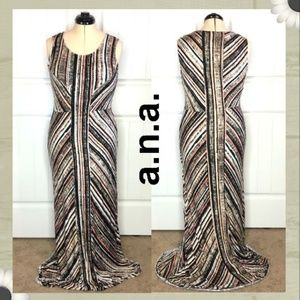 A.N.A. Printed maxi dress